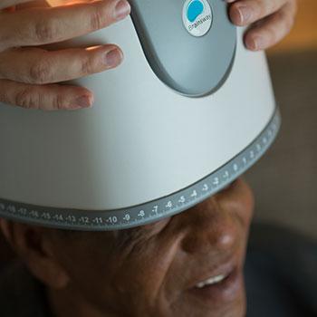 TBS Treatment Helmet Closeup